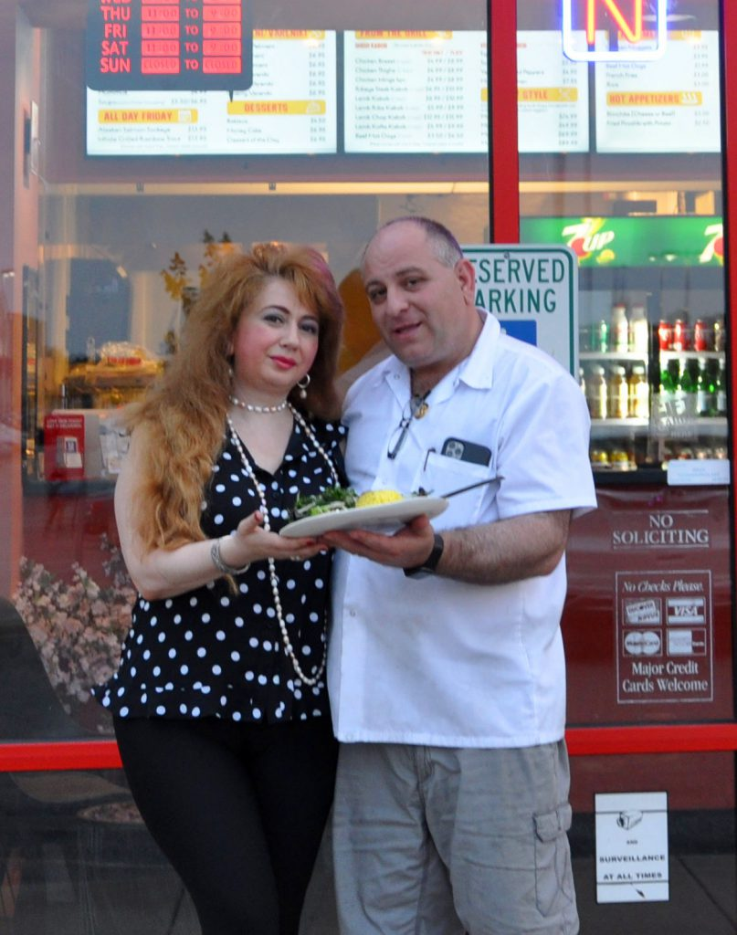 Emin and Irene, the owners of Caspian Grill